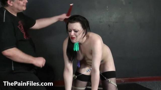 Humiliated Slave Isabel Deans Pegged and Punished to Tears in Amateur BDSM