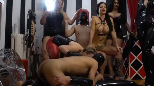Femdom Mistress gives Hardcore Domination Group Sex Party