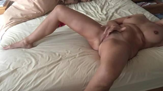 Horny amateur babe makes masturbation video for boyfriend