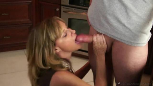 Stepmother Jodi West Fucks Son in Kitchen after Turning him On