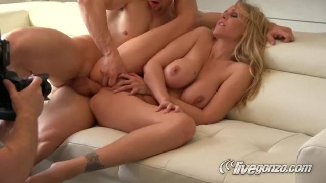 Hardcore anal fuck and behind the scenes with MILF Julia Ann