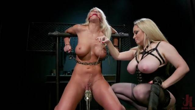 Busty mistress punishes her kinky slave in BDSM lesson