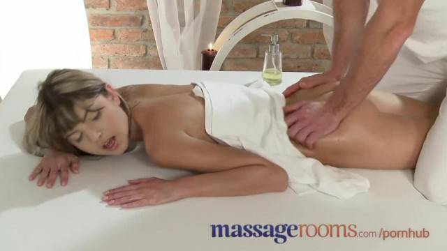 Petite Gina Gerson goes slutty on the massage table