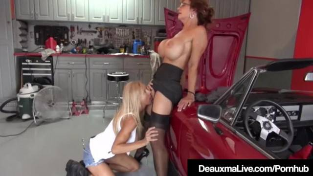 Busty mature ladies satisfying each other wet twats