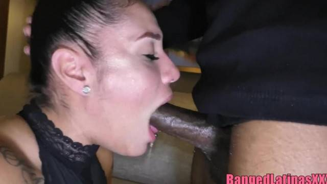 Cougar MILF face fucked pounded and creamed by BBC