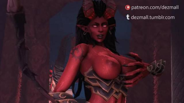 POV anime fuck with busty and horny demon