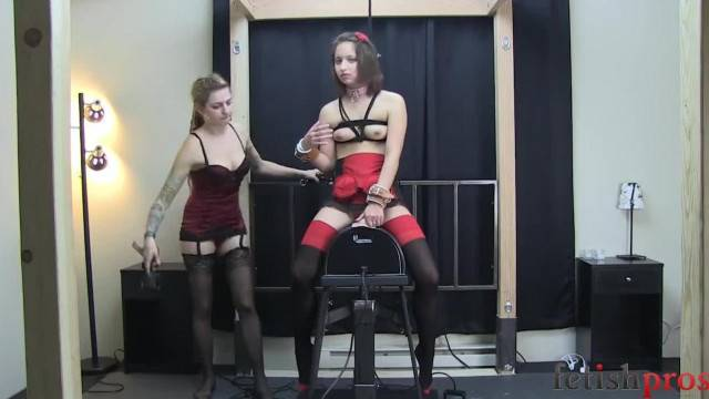 Bondage slave screaming when being spanked and fucked