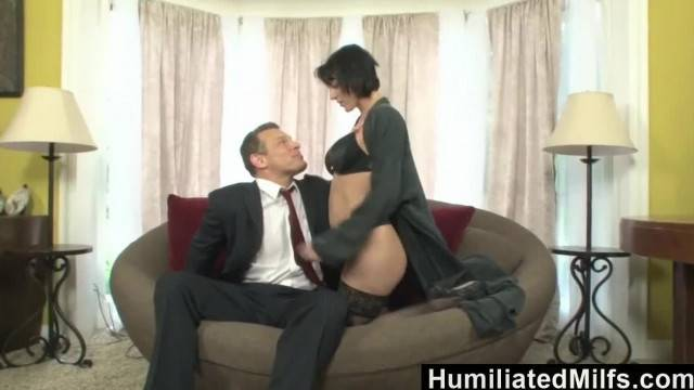 Gorgeous brunette MILF pounded deep and hard by businessman
