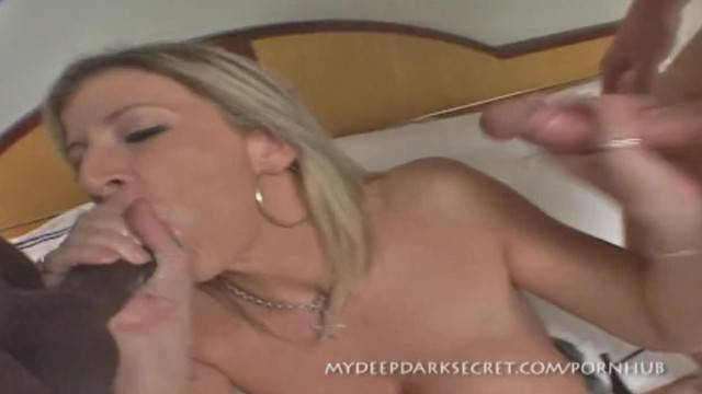 Blonde MILF Sara Jay Takes on two Cocks