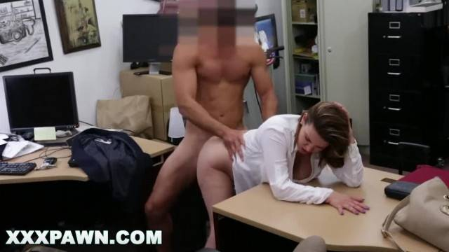 Naughty wife pounded hard in doggy style at the store
