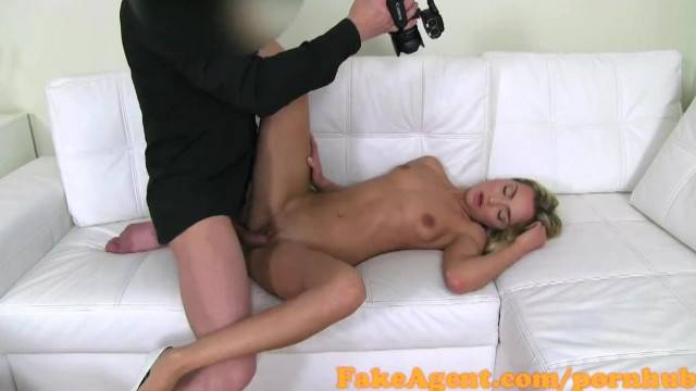 Sexy model Victoria Puppy gets her ass creamed at casting