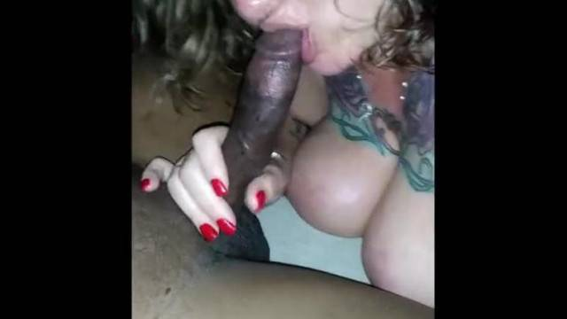 Amateur MILF squeezes hard BBC between her huge tits
