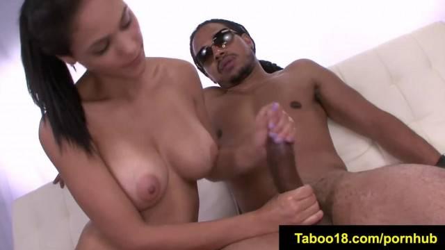FetishNetwork Jasmine Caro Sensual handjob for Stepbro