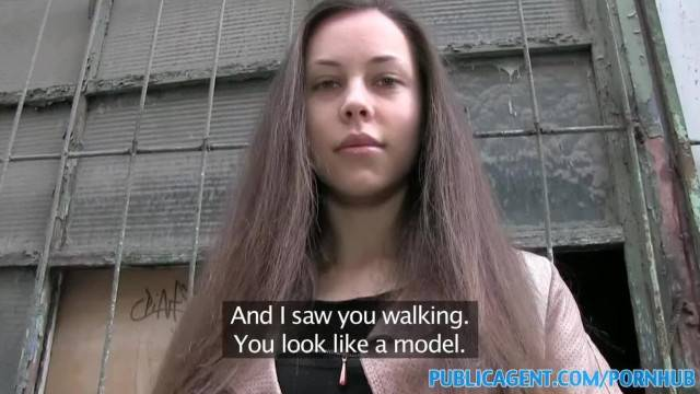 PublicAgent Brunette Babe with Stunning Figure Fucks for Cash