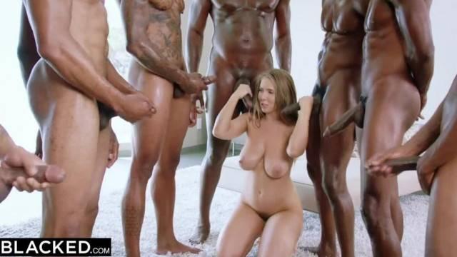 Hottie Lena Paul has amazing Interracial Gangbang