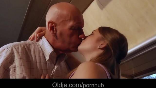 Super Tight Teen Vagina Maid Fucking old Boss for a Raise