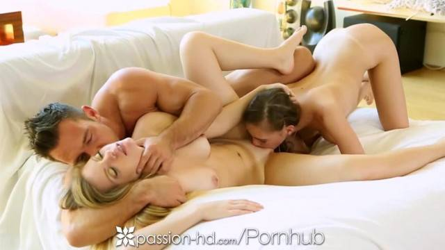 Passion HD Skye West and Trisha Parks Share Dick in Threesome