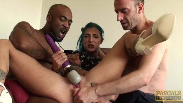 Ass Fingered English Bird in Nasty Threesome