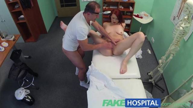 FakeHospital Sexy Redhead Surprises Doctor with Whats inside her Pussy