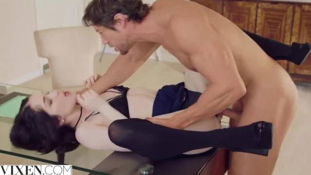 Teen cutie Evelyn Claire pounded hard by math teacher