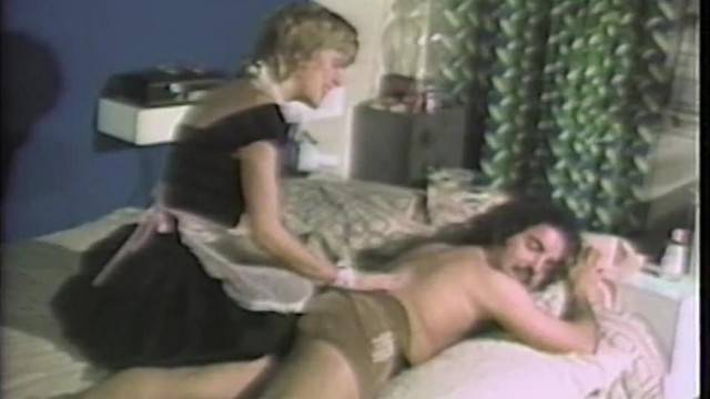 Blonde maid stretches her pussy on her young boss cock